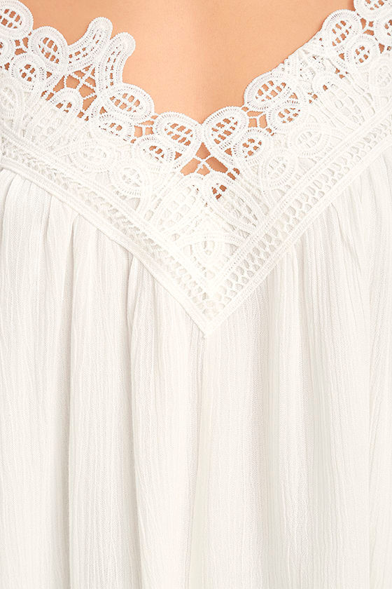 Daily Devotion White Lace Off-the-Shoulder Top 6