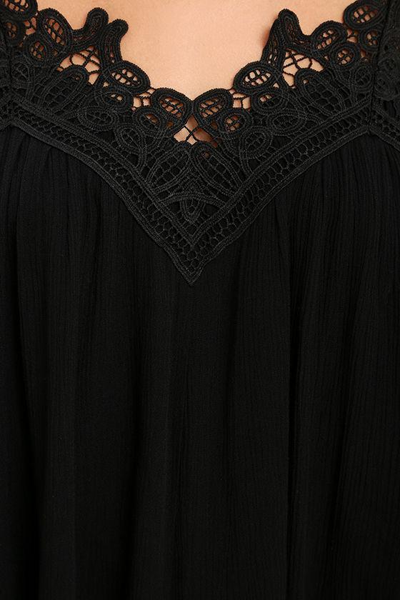 Daily Devotion Black Lace Off-the-Shoulder Top 6