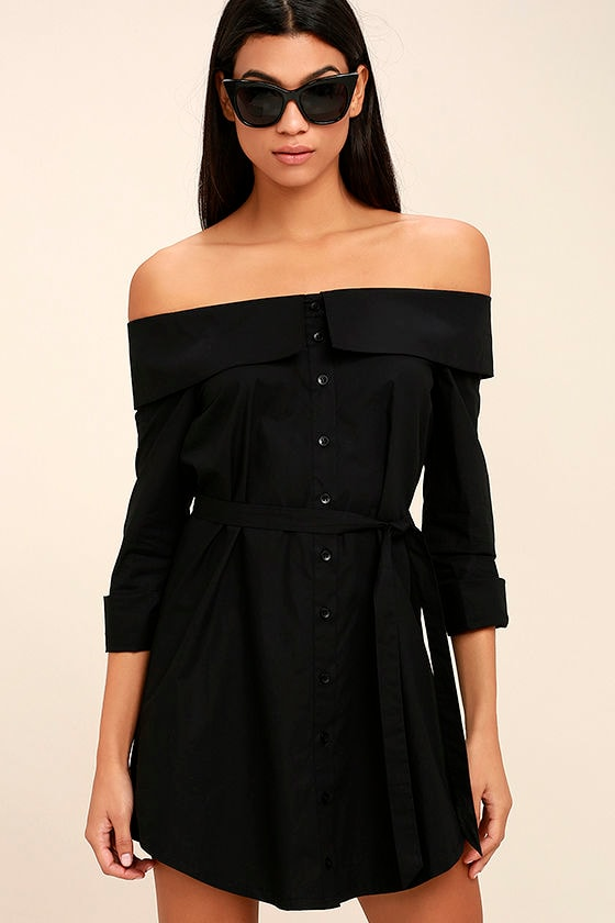 Off the Shoulder Black Dresses for Women