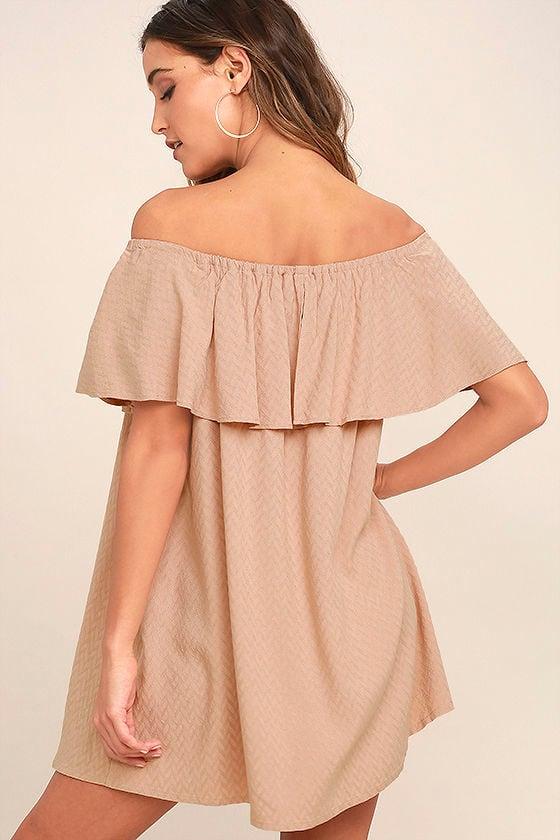 Melodic Blush Off-the-Shoulder Shift Dress 3