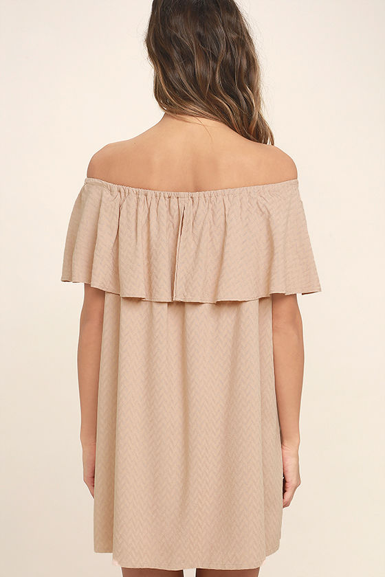 Melodic Blush Off-the-Shoulder Shift Dress 4