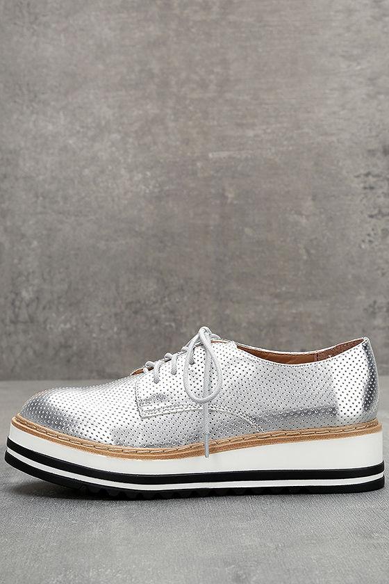 2c94da707a9 Steve Madden Vassar Sneakers - Silver Platform Sneakers - Silver ...
