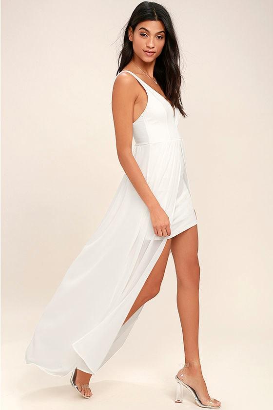3a389c6c96 Gorgeous White Dress - White Maxi Dress - White Chiffon Maxi Dress ...