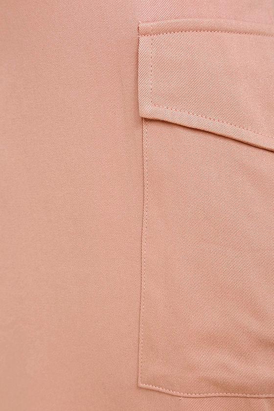 Old Fashioned Blush Pink Pinafore Dress 6