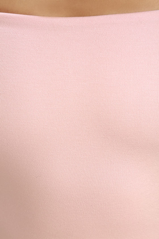 Me Oh My Blush Pink Off-the-Shoulder Bodycon Dress 6