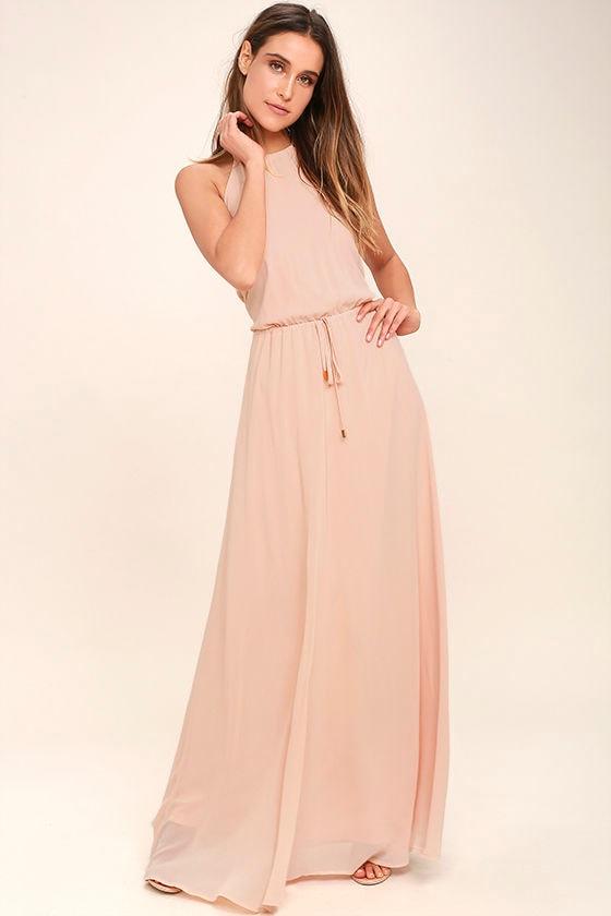 918485b0f Lovely Peach Dress - Maxi Dress - Sleeveless Dress - $86.00
