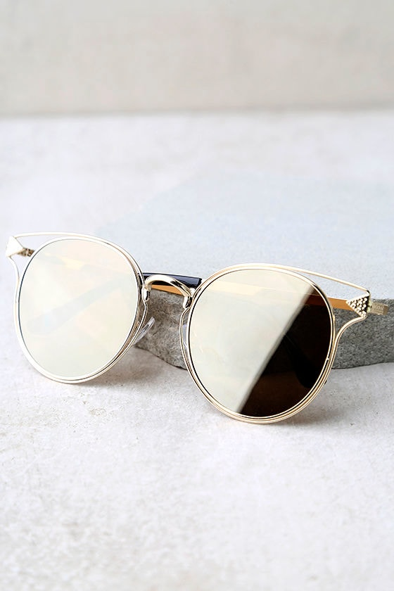 Good Golly Gold Mirrored Sunglasses 3