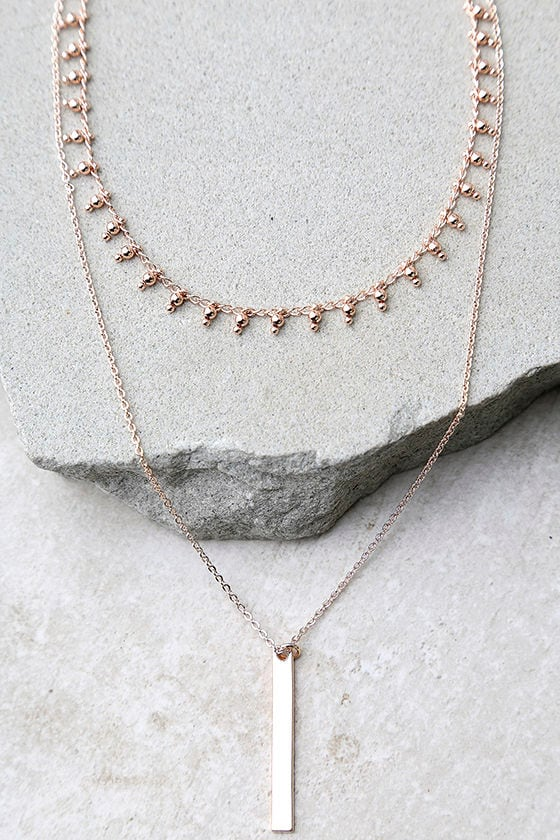 5f9ed218c58ab Charming Trinkets Rose Gold Layered Choker Necklace