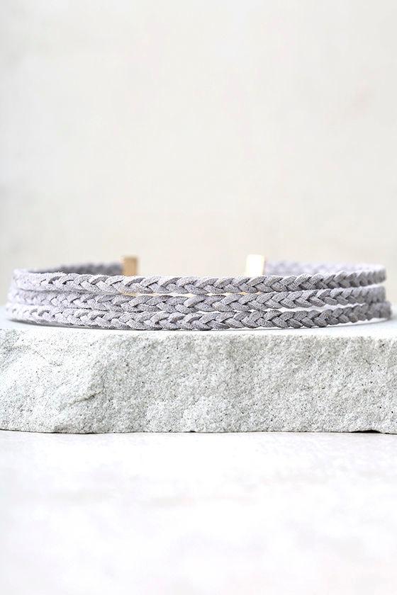 Grand Finale Grey Layered Choker Necklace 2