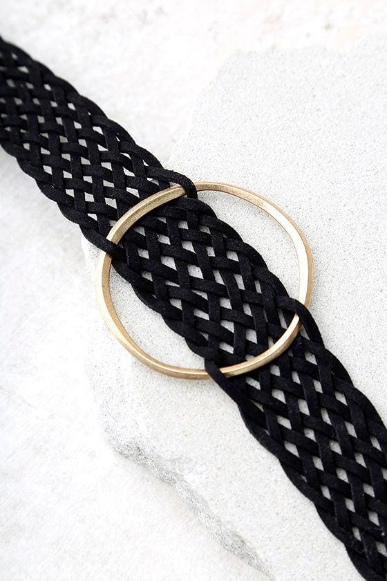 Band Together Black Choker Necklace 3