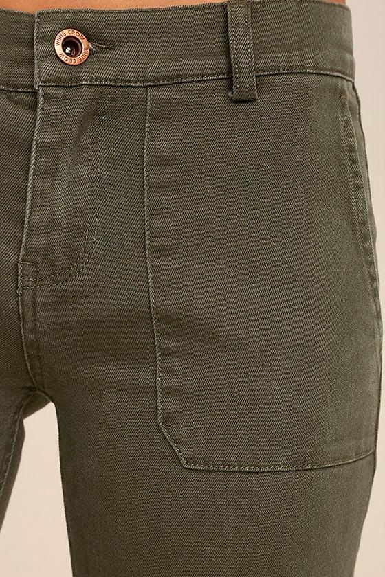 White Crow Skyline Olive Green Skinny Jeans 6