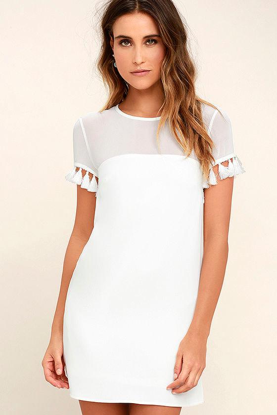 Iced Latte White Shift Dress 1
