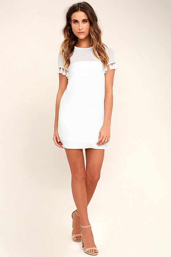 Iced Latte White Shift Dress 3