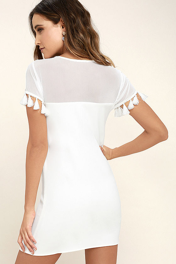 Iced Latte White Shift Dress 4