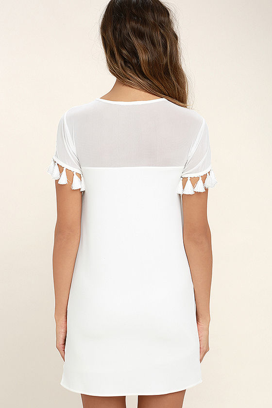 Iced Latte White Shift Dress 5