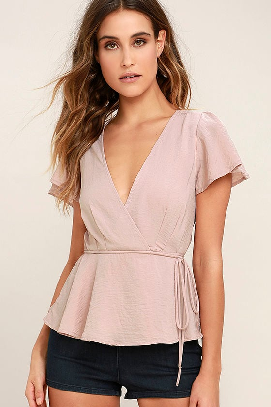 Modern Gal Blush Wrap Top 1