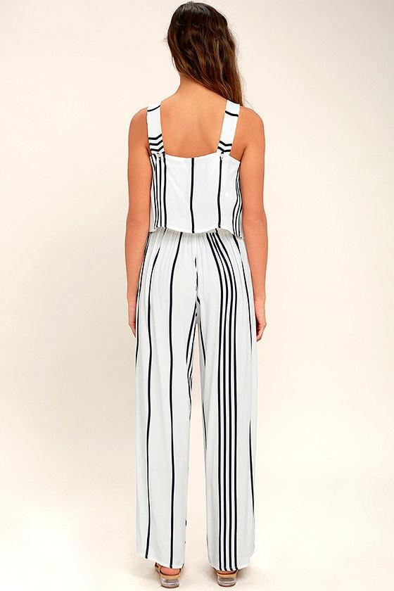 Faithfull the Brand Montero Black and White Striped Pants 3