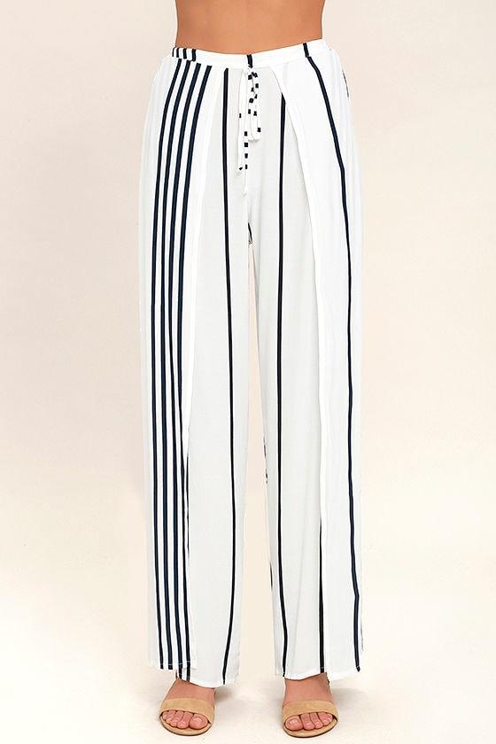Faithfull the Brand Montero Black and White Striped Pants 4