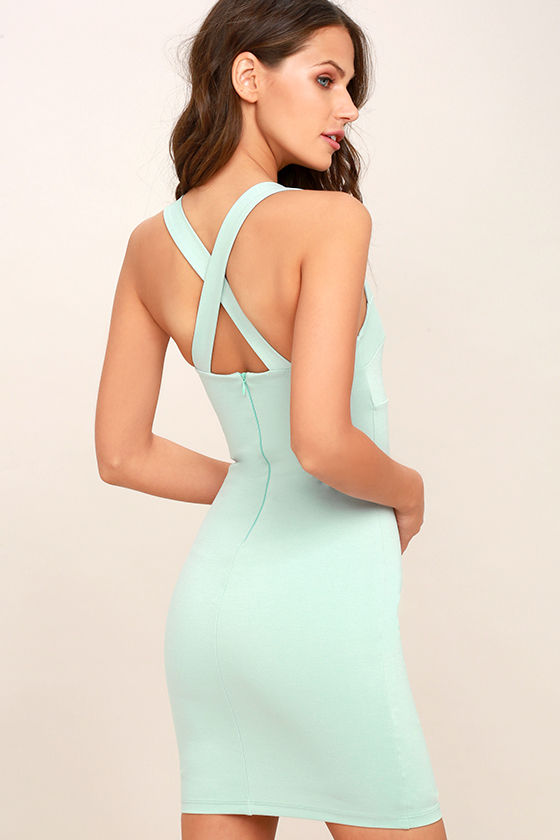 0f801542818a Sexy Light Blue Dress - Bodycon Dress - Sleeveless Dress -  48.00