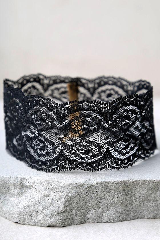 Lace Goals Black Lace Choker Necklace 2