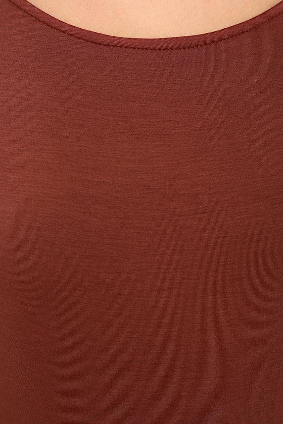 Hype-Worthy Washed Burgundy Backless Bodysuit 7