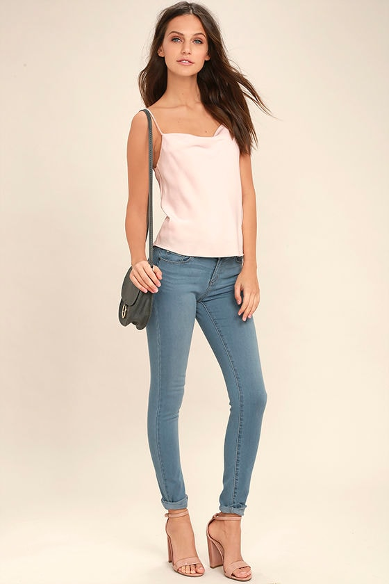 Bring it On Light Wash Skinny Jeans 1