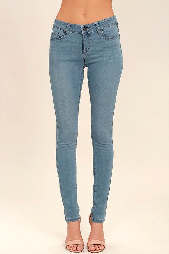 Bring it On Light Wash Skinny Jeans 2