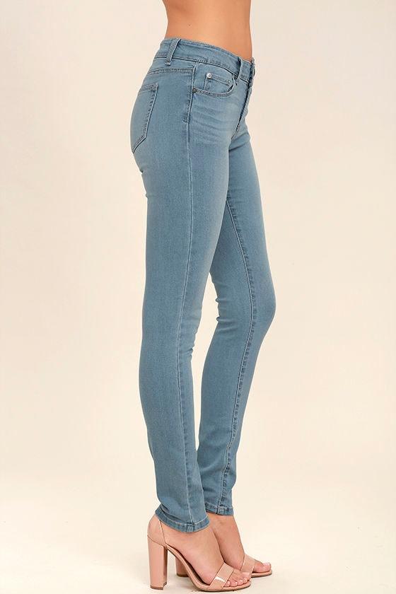 Bring it On Light Wash Skinny Jeans 3