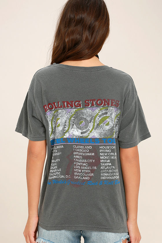 Daydreamer Rolling Stones Washed Grey Tee 4