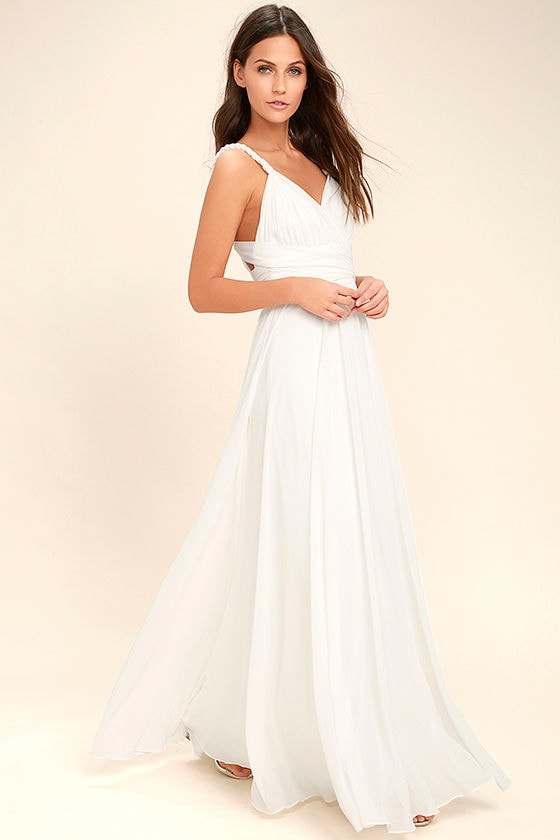 Carte Blanche White Maxi Dress 2