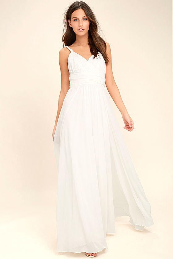 Carte Blanche White Maxi Dress 3