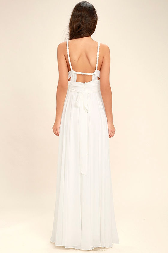 Carte Blanche White Maxi Dress 4
