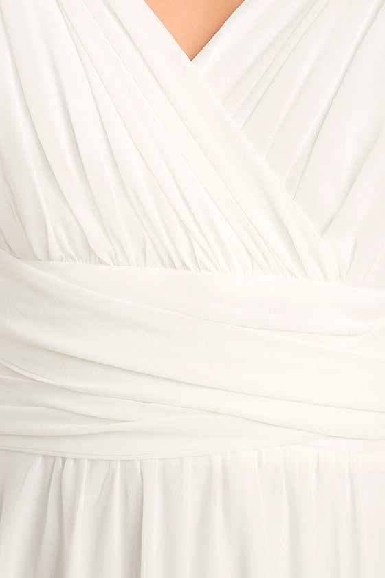 Carte Blanche White Maxi Dress 6