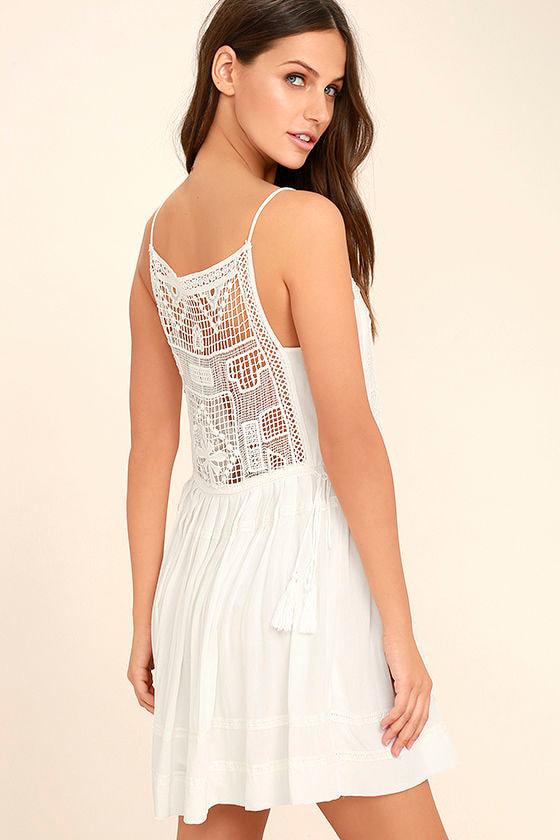 Idyllic White Lace Dress 1