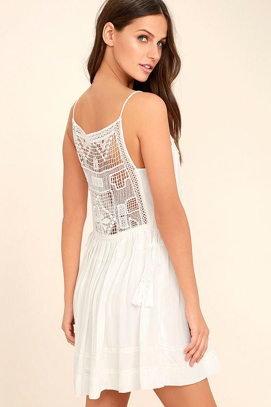Idyllic White Lace Dress 1