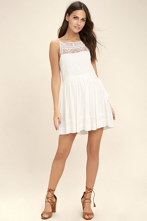 Idyllic White Lace Dress 2