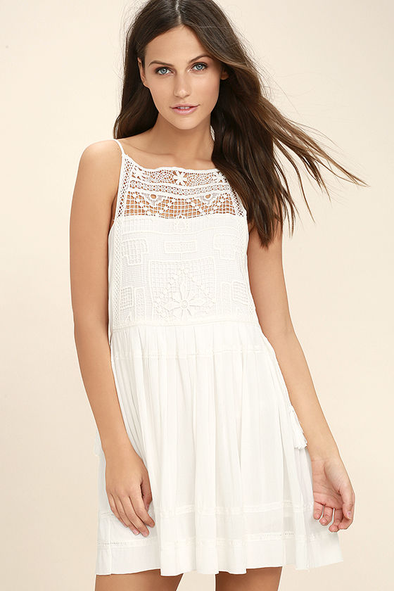 Idyllic White Lace Dress 3