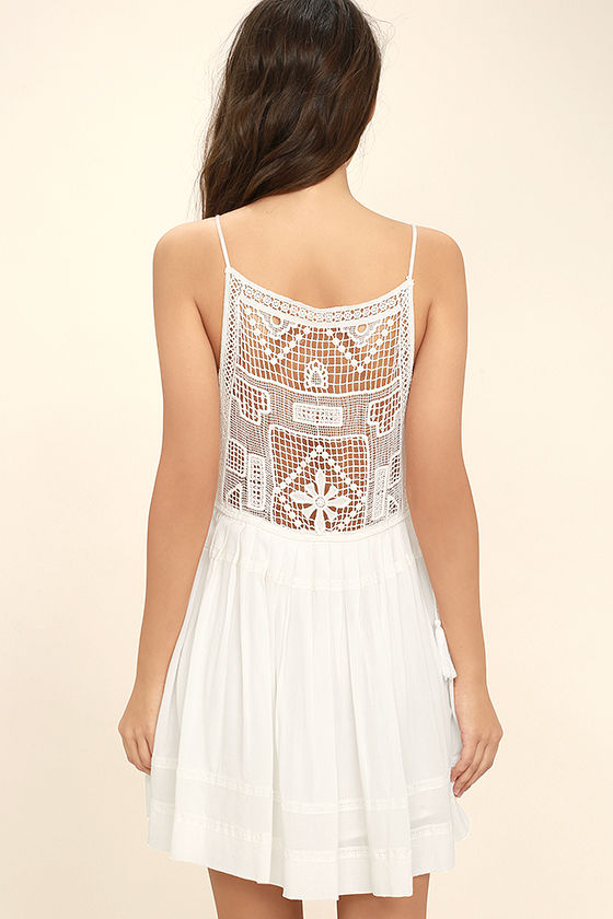 Idyllic White Lace Dress 4