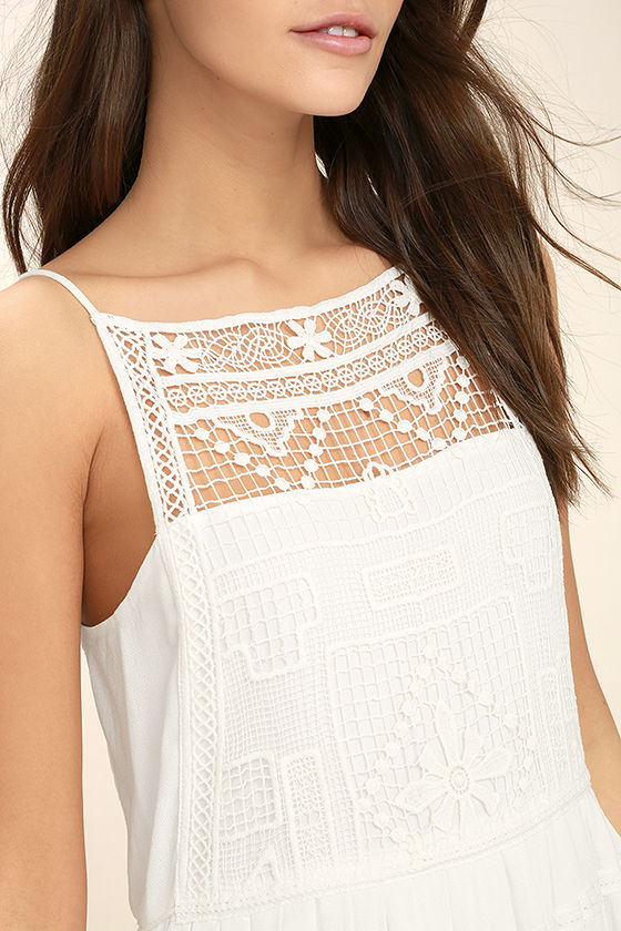 Idyllic White Lace Dress 5