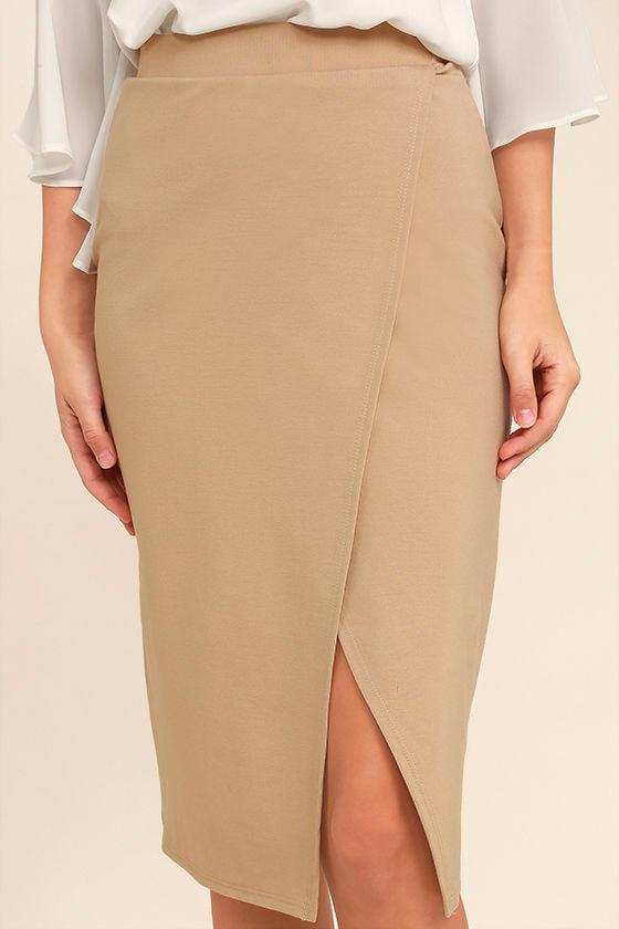 Perfectionist Beige Pencil Skirt 5