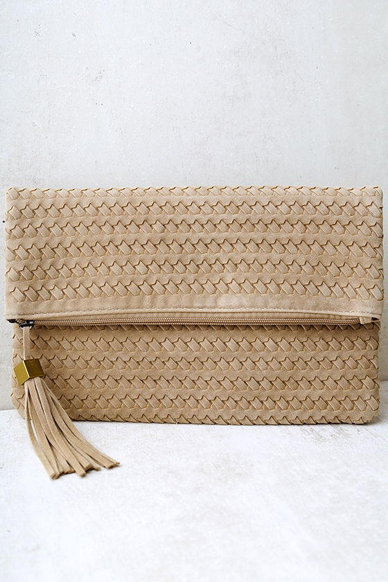 Leave it to Me Beige Clutch 1
