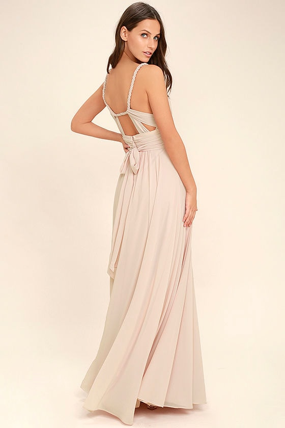 Carte Blanche Blush Pink Maxi Dress 1 - Lovely Blush Pink Dress - Maxi Dress - Gown - Bridesmaid Dress