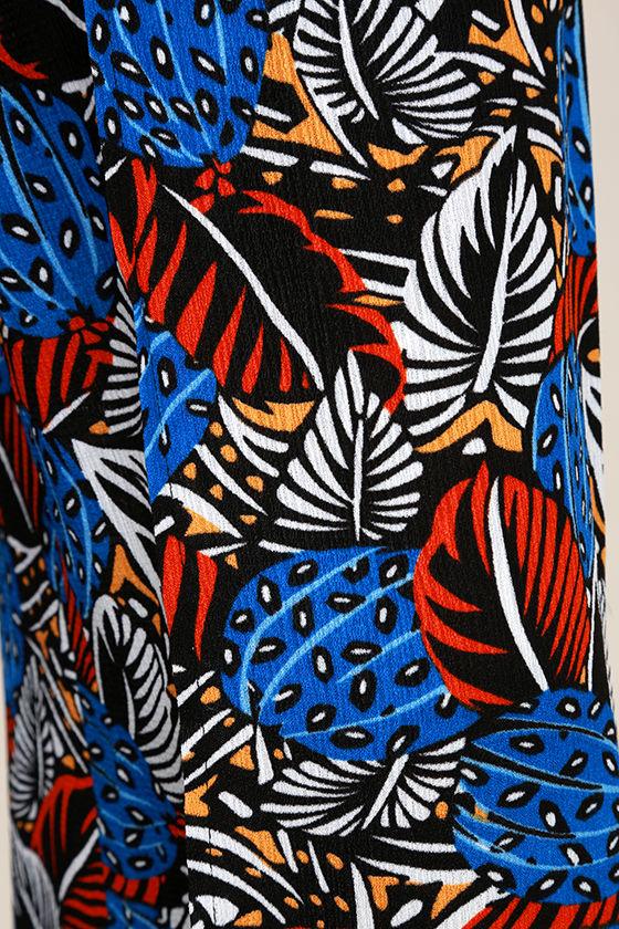 Urban Jungle Blue Print Two-Piece Jumpsuit 7