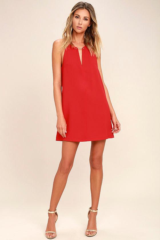 Near or Bar Red Shift Dress 2