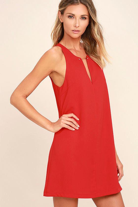 Near or Bar Red Shift Dress 3