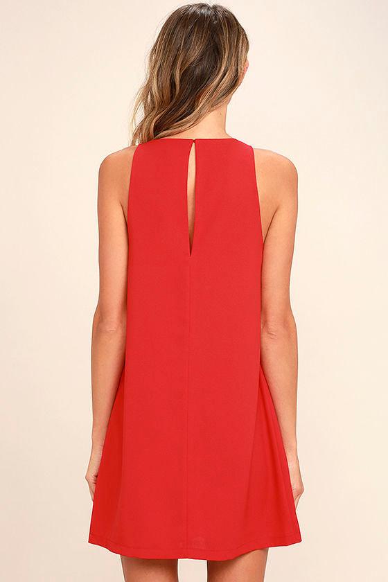Near or Bar Red Shift Dress 4