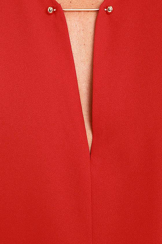 Near or Bar Red Shift Dress 6