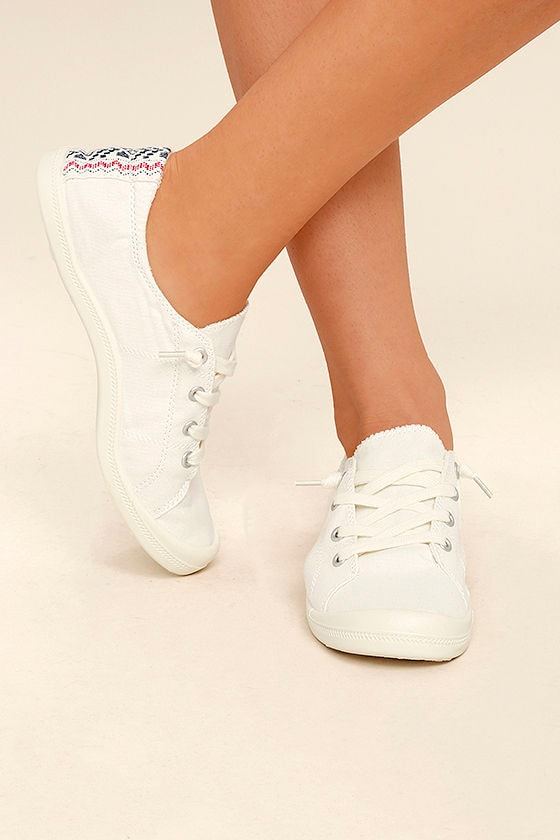 Madden Girl Baailey White Sneakers 1