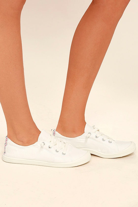Madden Girl Baailey White Sneakers 3
