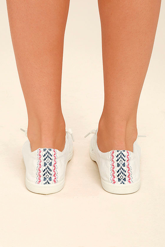 Madden Girl Baailey White Sneakers 4